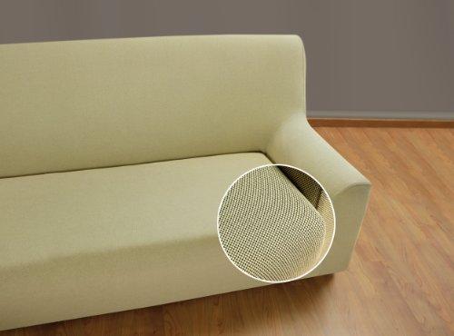 Velfont – Bielastischer Sofabezug Universal - 2-Sitzer - Beige - verfügbar in verschiedenen Größen und Farben