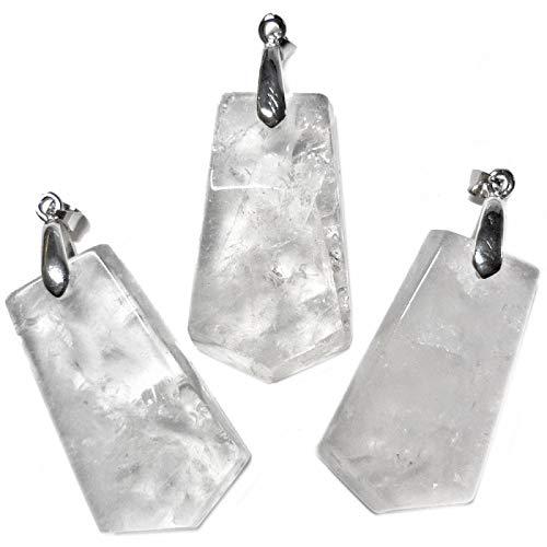 Colgante de cristal de roca.