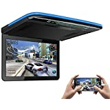 XTRONS 1920x1080 13.3 inch Resolution FHD Screen Car Roof Monitor Flip Down Overhead Multimedia Car Ceiling Over Head Video Display with USB SD HDMI Port (No DVD Drive)