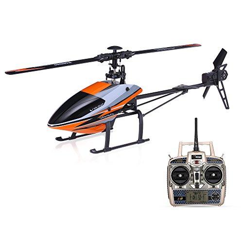Goolsky Elicottero RC Senza Motore Flybarless RTF RC Senza Motore con Elicottero 2.4G 6CH 3D 6G WLtoys V950
