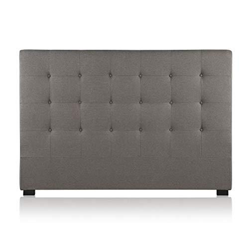 Intense Déco - Tête de lit capitonnée Premium Tissu 160cm Taupe