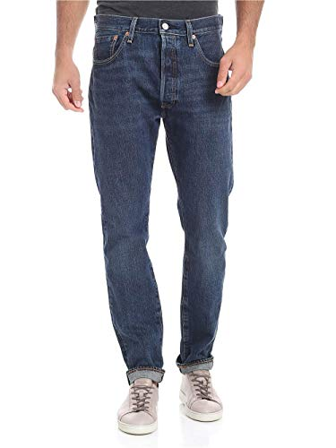 Levi's Heren 501 Skinny Luther-spijkerbroek, Blauw