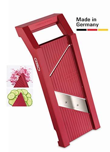 G S D Haushaltsgeräte G S D Universal-Gemüsehobel 30 010 Affettaverdure, Plastica, Colore: Rosso