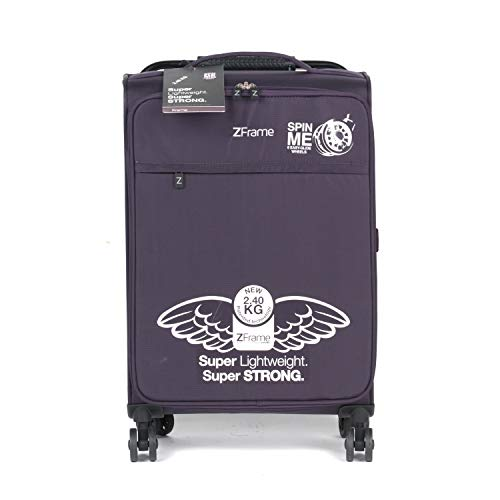 ZFrame 22' Medium 4 Double Wheel Super Lightweight Suitcase, 2.48 kg, 51 Litre, Purple, 10 Year Warranty
