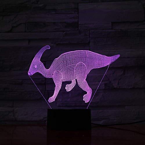 Nieuwe dinosaurus 3D-nachtlampje, decoratieve verlichting met 7 kleuren, verbazingwekkende optische lampen, Kerstmis, kinderen, geschenken, nieuwe cadeaus