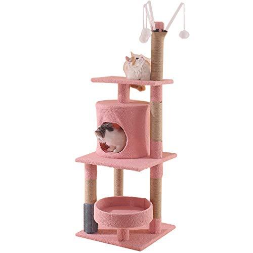 JUSTDOLIFE Kratzbaum Multifunktionaler kreativer Kratzbaum Kratzbaum Katzenspielhaus Turm Cat Scratching Post Tower for Large Cats