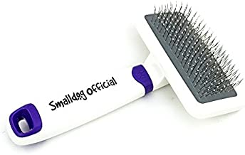 Smalldog Official, Sensitive Skin Gentle Dog Brush, Dog Gift, for Small and Toy Breed Dogs to Remove Loose Hair, Mats, Dirt, Stickers, Detangling – Pain Free Grooming