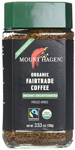 Mount Hagen Organic Freeze Dried Instant Decaffeinated Coffee, Award-Winning, House Blend, Kosher, 3.53-Ounce Jars (Pack of 6)