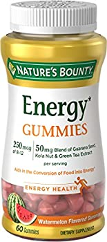 60-Count Nature's Bounty Energy Complex Gummies, 250 MCG