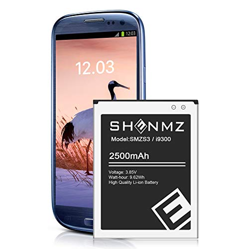 Samsung S3 Battery,Upgraded 2500mAh Replacement Battery for Samsung Galaxy S3,EB-L1G6LLU,Verizon I535 i9300,T-Mobile T999,Sprint L710,AT&T I747,R530,LTE I9305 [3 Year Warranty]