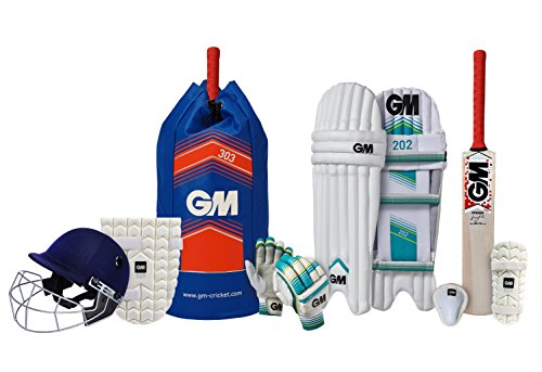 GM 1600399 Complete Kit with Helmet Cricket Size 6