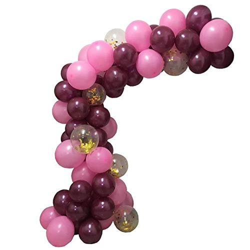 102 Piezas de Globos de Color Rojo Vino, Conjunto de Decoraciones para Fiestas, niñas, Mujeres, bebés, Suministros para Fiestas de cumpleaños, Bricolaje, Aniversario, Globos de Fiesta temáticos para