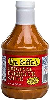 Mrs Griffin's Regular BBQ Sauce 32 oz - Tangy Mustard Based BBQ Sauce (Regular, 32 oz)