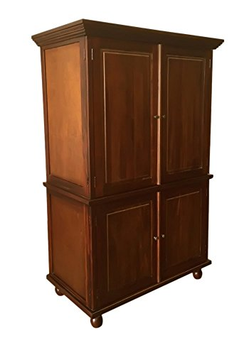D-Art United 4 Door Raised Panel Armoire Cabinet Wardrobe