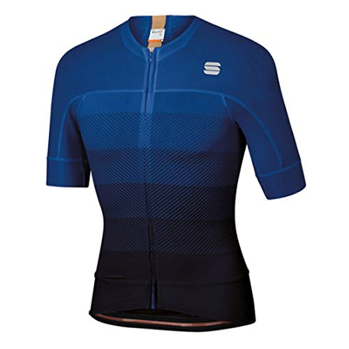 Sportful Bodyfit Pro EVO Jersey - Black/Blue Twilight/Gold