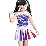Amosfun Mädchen Cheerleader Kleidung Kostüm Uniform Cheerleading Kinder Kleid Outfit Fußball...