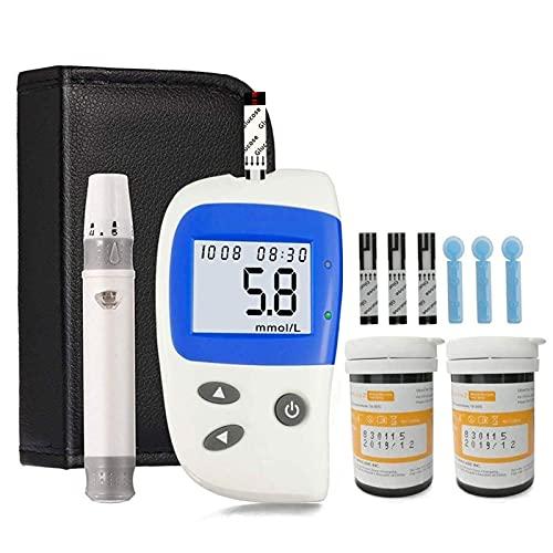Lecteur de glycémie, Système de Surveillance du glycémie Glucomètre Glucomètre Compteur de glycémie sanglante Kit de Test de glycémie MG/DL (Color : Glucometer MG/DL Set)