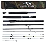 X5 MAX Compact Travel Fishing Rod. Spin Cast Bait Fly Travel Fishing Rod. 9 Rods Combinations from 11 Sections. 3 Rod Lengths