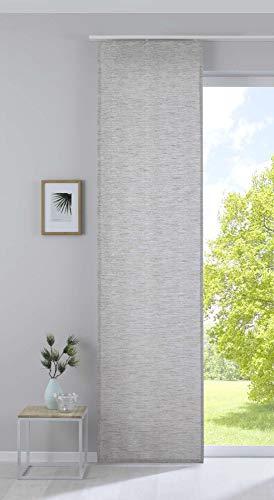 """Gardinenbox - Tenda a pannello con motivo jacquard e filato effetto """"Sivas"""", 20190351, 100% poliestere, colore: tortora, 245 x 60 cm"""