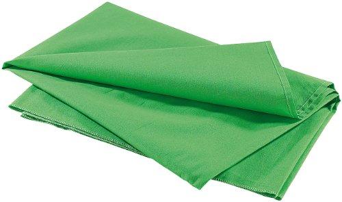 Greenscreen Hintergrund-Stoff von Somikon für Chromakey - Baumwolle, 300 x 400 cm