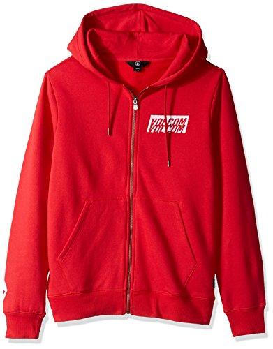 Volcom Men's Supply Stone Zip up Fleece Hoodie, True r, XL