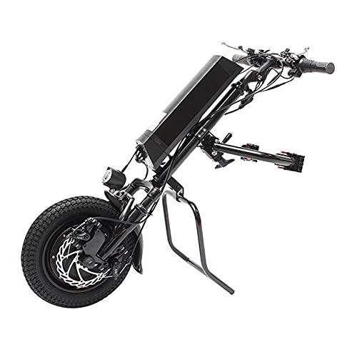 WXDP Selbstfahrend Elektrisches 36V 500W Handbike-Zubehör mit 10,4Ah Batterie, Therapie-Elektro-Umbausatz mit Frontlicht