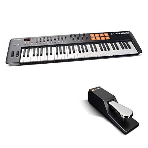 M-Audio Oxygen 61 IV + SP-2 - Teclado controlador MIDI USB de 61...
