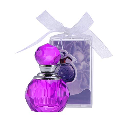 Lurrose Creativa Botella de Perfume de Cristal Adornos de Escritorio Artículos de decoración para el hogar Dormitorio Oficina (púrpura)