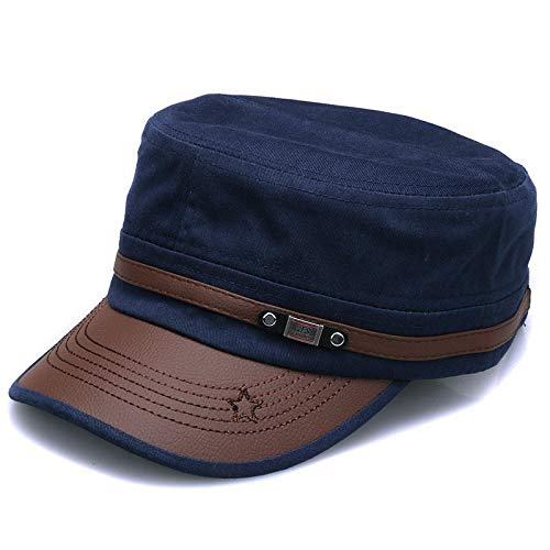 JWLJG-ZZ Casquette de Baseball Cotton Military Hats for Men Women Adjustable Flat Top Army Caps Naval Vintage Solid Visor Sun Hat Gorr