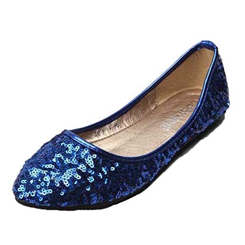 Mocasines para Mujer cómodos Suela Suave Purpurina Lentejuelas Zapatos Casuales Planos Zapatos...