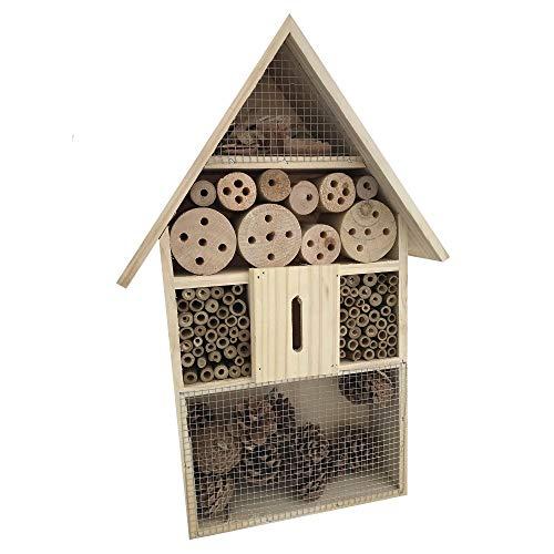 Megaprom Houten insectenhotel insectenhuis nestkast broodtrommel insecten bijenhotel voor tuin balkon