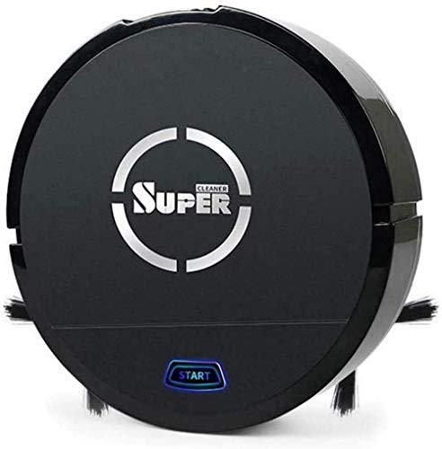 Robot de barrido inteligente, aspirador potente 1200 Pa inteligente barredora de hogar robot aspirador kshu (color: negro)