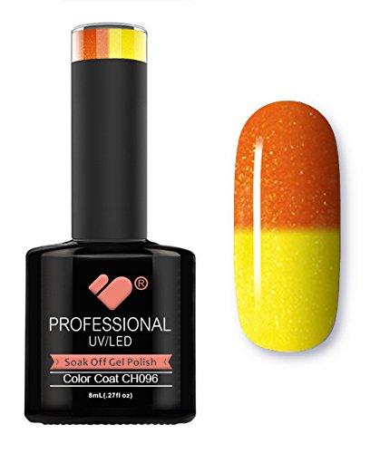 Ch096 VB Ligne Orange métallique à changement de couleur Super Vernis UV/Led Soak Off Vernis à ongles gel