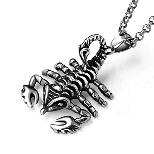 J.Me.Mi Uomo Collana Scorpione Acciaio Inox Biker Ciondolo Design Hip Hop per Le Donne degli Accessori di Abbigliamento,A