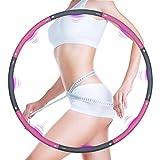 Hula Hoop - Pneumatico per adulti, 8 parti rimovibili, per regolare la larghezza dell'hula hoop, per fitness, sport, casa, ufficio, addominali, 1,2 kg