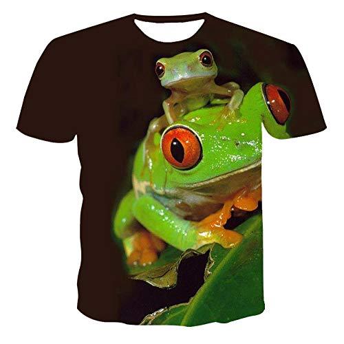 TJJS Imprimé 3D T-Shirt T-Shirt d'été Nouveau T-Shirt décontracté à Manches Courtes à col Rond T-Shirt à laModeT-Shirts à Motif d'araignée