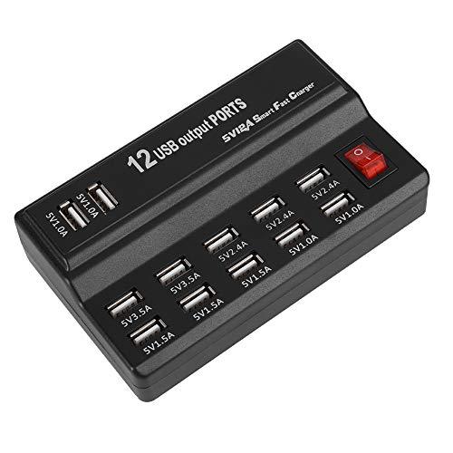 Weikeya A Salvo Cargador, Poder Adaptador Apoyo C.A 100-240V 0.3a(MAX) Abdominales por 12-Puerto USB Cargador