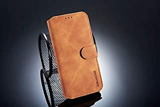 Xiaomi Redmi Note 6 カード ホルダー シェル, Xiaomi Redmi Note 6 財布 シェル スリム, Xiaomi Redmi Note 6 レザー シェル カバー 耐衝撃性 シェル ?と クレジット カード スロット, 耐久性のある 保護 シェル の Xiaomi Redmi Note 6 (Brown)