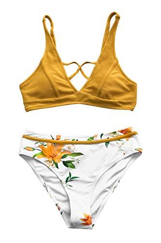 CUPSHE Sonnige Bucht Floral Bikini, L