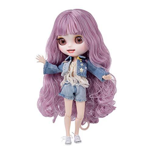 Mecotecn Blythe Doll, 1/6 Blythe Puppe Doll mit Make-up, Kleidung, 4 Farben Augäpfel, Hände, Schuhe (Puppe...
