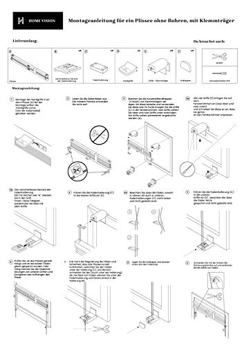 Plissee Graphit HOME-VISION - 9