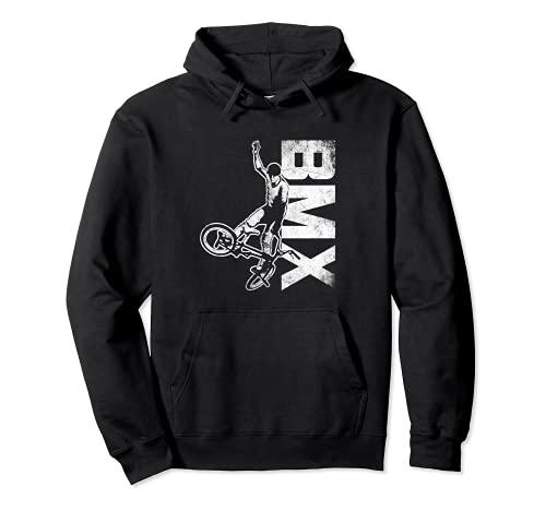 BMX Vintage Bike Race Stunt Regalo Bicicletta Sport Felpa con Cappuccio