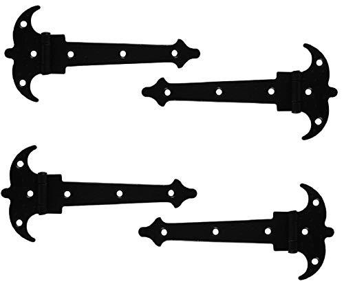 4 x Scharnier 150mm Zierscharniere Möbelbänder Möbelscharniere schwarz matt Schmiedeeisen
