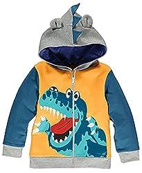 2. Little Hand Store Dinosaur Toddler Hoodie