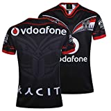 MRRTIME Classic Rugby Jersey, 16-17 New Zealand Warriors Home and Away Hombres de Manga Corta Bordado Fan de Entrenamiento Bordado Fan Rugby Jerseys Sport Top Top Fan Camise Home-S