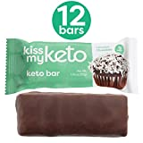Kiss My Keto Bars - Low Carb (4g Net), Low Sugar Keto Snack Bars | Chocolate Coconut Flavor, 12 Pack | Rich in Ketogenic Fats & Protein