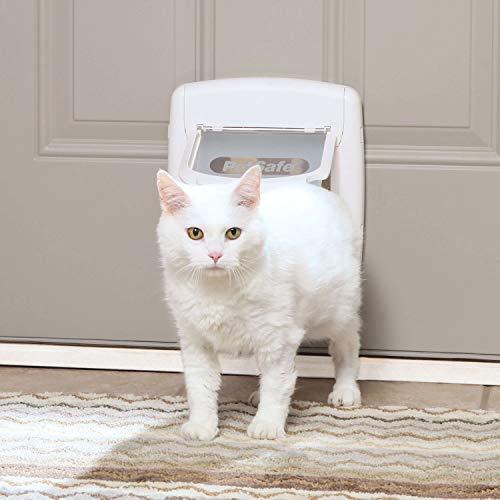 PetSafe Interior and Exterior Cat Door – 4-Way Locking Pet Door – For cats up to 15 pounds