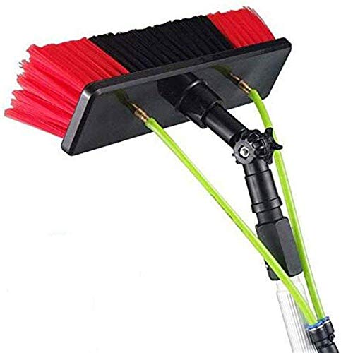 HAOJON Photovoltaic Panel Cleaning, Window Cleaning Pole,5-12m Water Fed Telescopic Brush, Extendable Cleaner Conservatory Roof Cleaning Tools Trucks Windows / 12m/39.37ft
