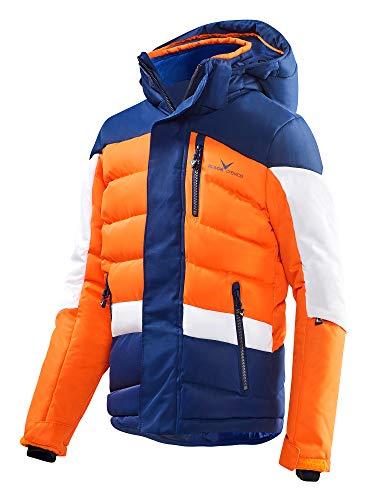 Black Crevice Kinder Skijacke, blau/orange/weiß, 164