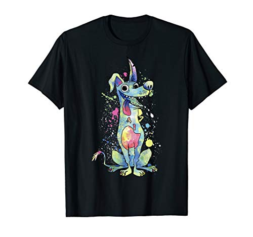 Disney Pixar Coco Dante Watercolor Splatter Graphic T-Shirt T-Shirt